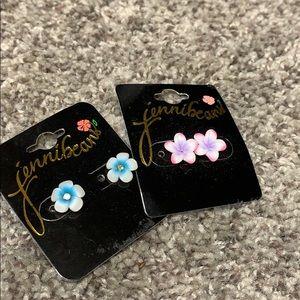 Hawaiian flower ear rings